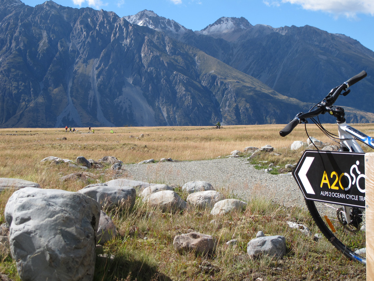 Start the A2O trail in beautiful alpine country
